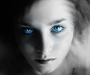 portrait, blue-eyes, and look-up image