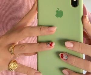 nails, phone, and cute image
