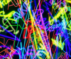 color, neon, and cool image