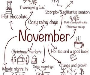 november, autumn, and book image
