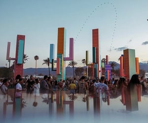 art, california, and coachella image