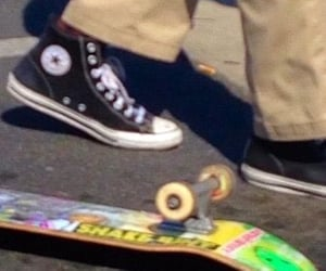 converse, skateboard, and skate image
