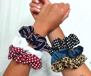 hair accessories, leopard print, and scrunchies image