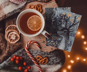 tea, winter, and christmas image