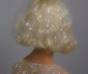 aesthetic, glitter, and hair image