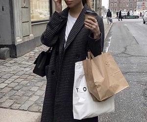 autumn, bag, and black image