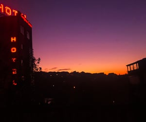 neon, red, and sky image