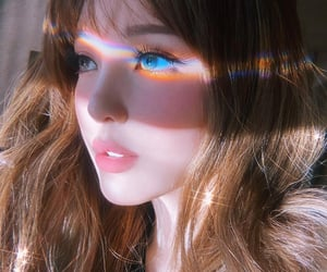 pony, makeup, and rainbow image