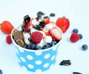 blueberries, chocolate, and food image