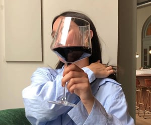 girl, wine, and aesthetic image