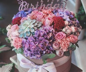 flowers, b-day, and birthday image