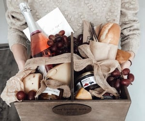 cheese, grape, and wine image