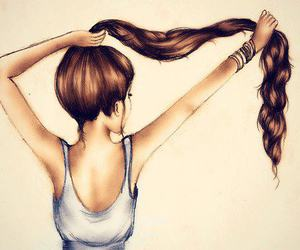 beautiful, long hair, and pretty image