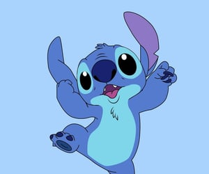 blue, disney, and stitch image