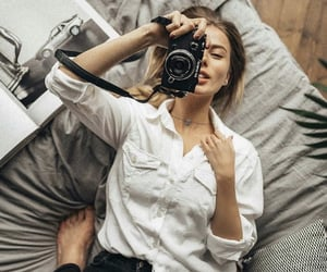 photography, girl, and camera image