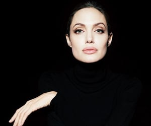 Angelina Jolie, dark, and black image