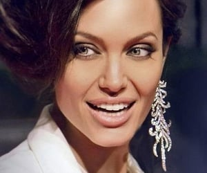 Angelina Jolie, earings, and hair image