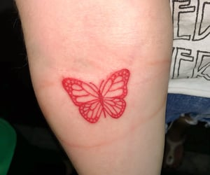 butterfly, girly, and tattoo image