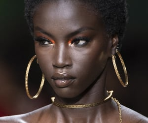 black, face, and fashion image