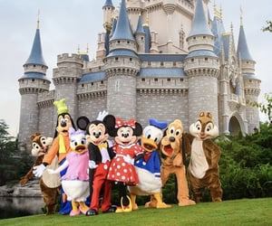 disney world, goofy, and minnie mouse image