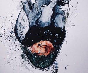 animal, heart, and watercolor image