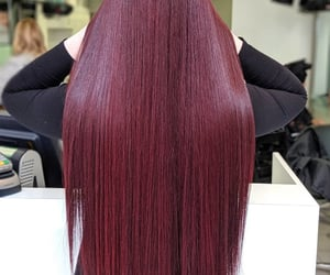 red hair, burgundy hair, and claret hair color image