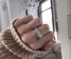 girl, ring, and nails image