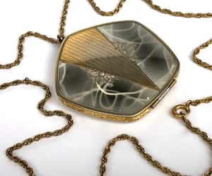 vintage necklace, vintage locket, and epsteam image
