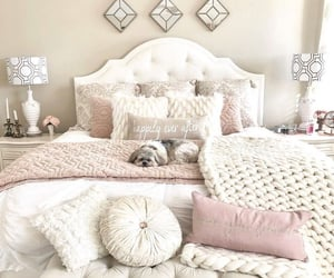 home decor, bedroom inspiration, and bedroom goals image