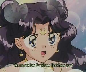 anime, sailor moon, and luna image