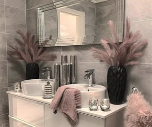 home, bathroom, and mirror image