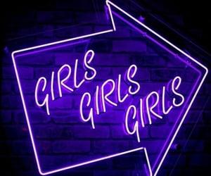 purple, dark, and girls image
