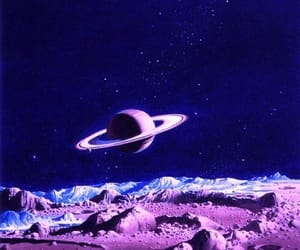 purple, planet, and space image