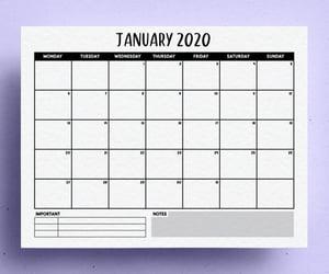 calendar, planner, and printable image