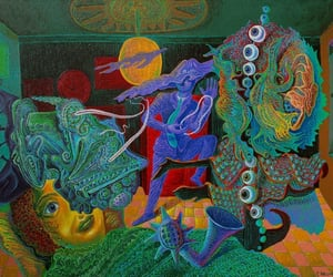 art, paintings, and psychedelia image