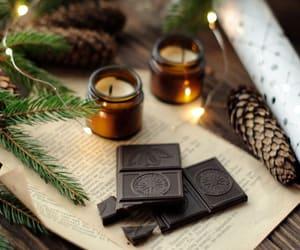 candles, chocolate, and christmas tree image