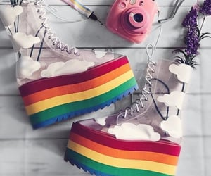 shoes, lgbt, and rainbow shoes image