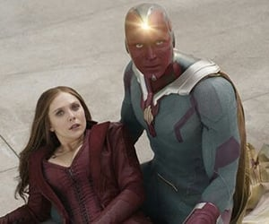scarlet witch, wanda maximoff, and scarletvision image