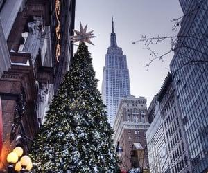 christmas, winter, and new york image