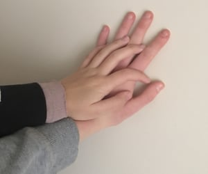 aesthetic, couple, and little hand image