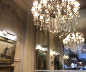 chandelier, decor, and luxury image
