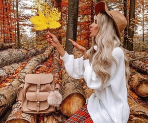 fashion, leaf leaves, and beauty beautiful love image