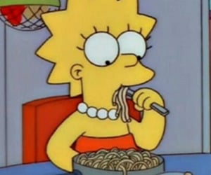cartoon, lisa, and food image