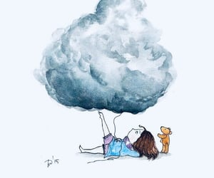 art, cloud, and drawing image