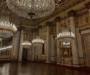 ballroom, beautiful, and chandelier image