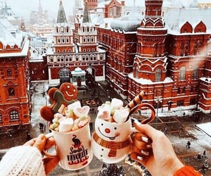 christmas, winter, and moscow image
