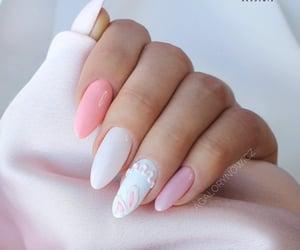 love it, pink, and polish nail image