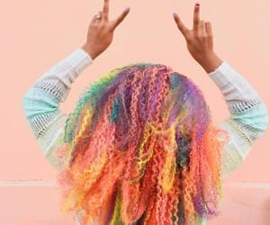 article, colorful hair, and inspo image