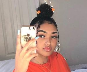 eyebrows, fashion, and girls image