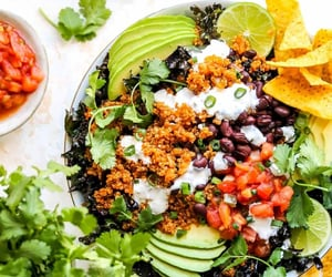 salad, vegan, and vegetarian image